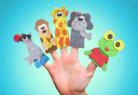 Ideas para niños - marionetas de dedo