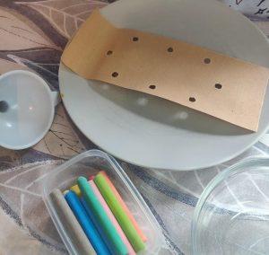 como hacer tarros de sal de colores